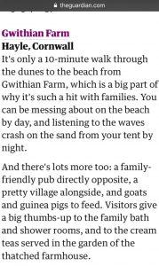 Guardian article Gwithian Farm