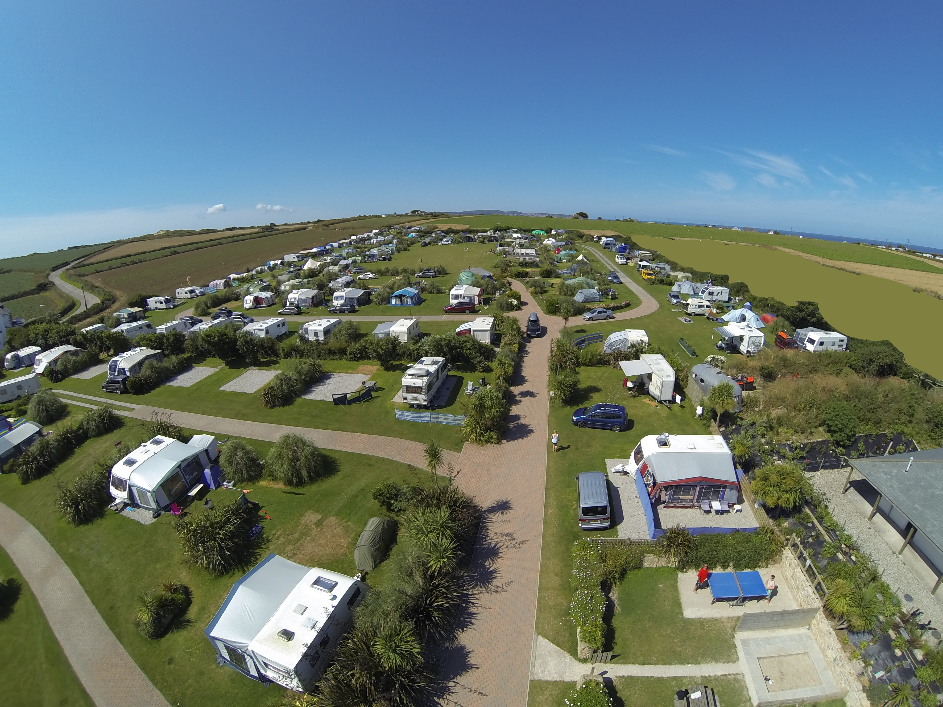 Motorhomes and caravan pitches