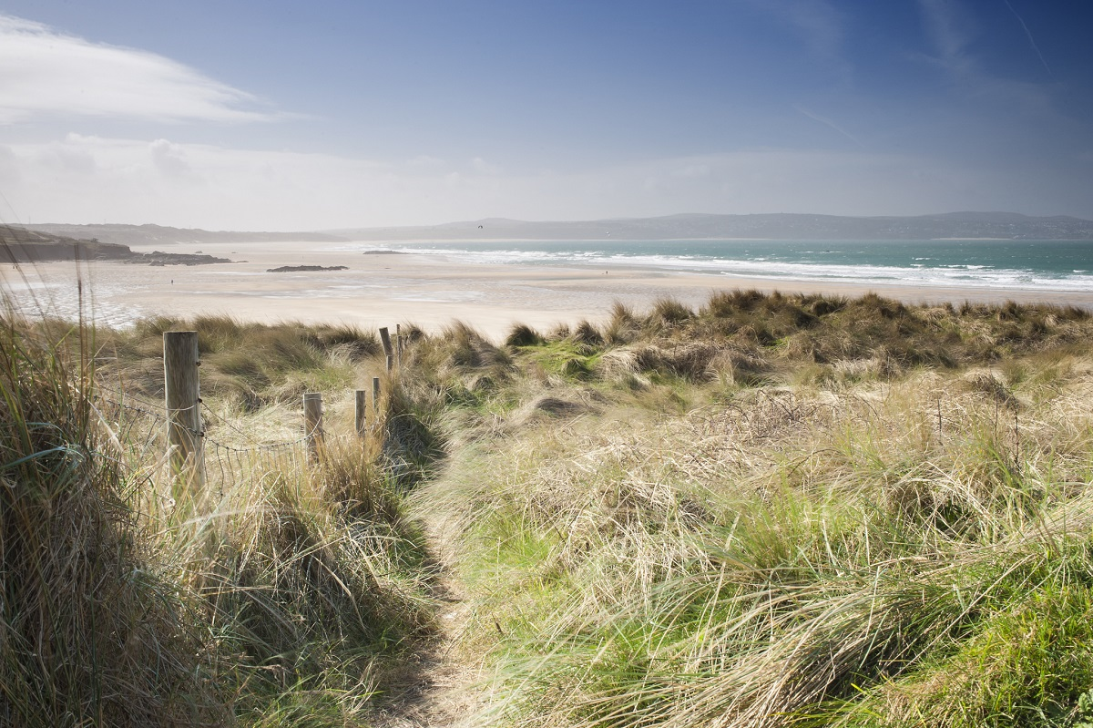 sandy dunes to gwithian beach